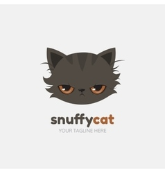 Snuffy cat logo template vector