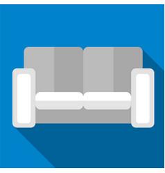 Sofa flat icon vector