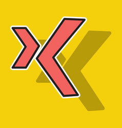 sticker logo xing icon social social media social vector image