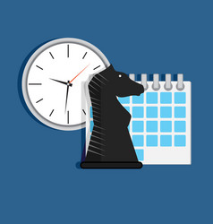 strategy time organization vector image
