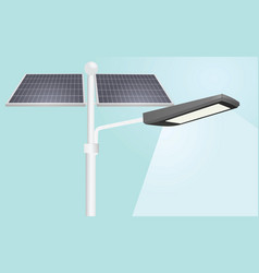 Street lights solar panels vector