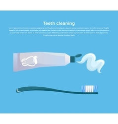 Teeth Cleaning Concept Design Banner vector image
