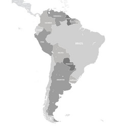 Territory south america continent white vector