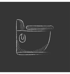 Toilet Drawn in chalk icon vector
