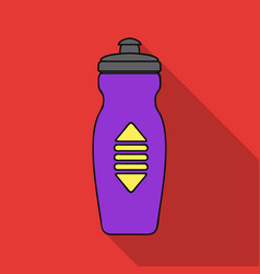 Water bottle icon in flat style isolated on white vector