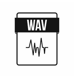 WAV file icon simple style vector