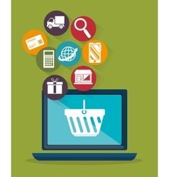 web shopping ecommerce online icon vector image