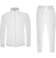 White tracksuit set vector