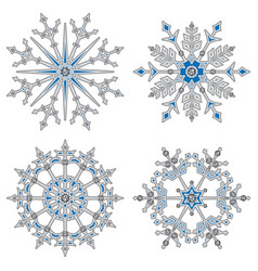 white volume snowflake vector image