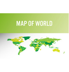 World map in modern design vector