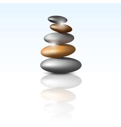 Zen stone tower vector