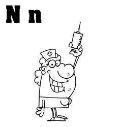 Cartoon nurse with letter vector image vector image