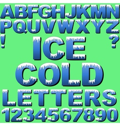 Cold Letters vector image vector image