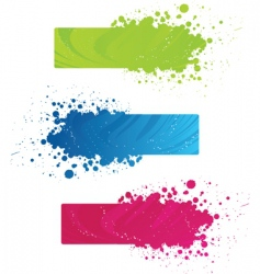 colorful grunge banners vector image vector image