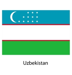 Flag of the country uzbekistan vector image vector image