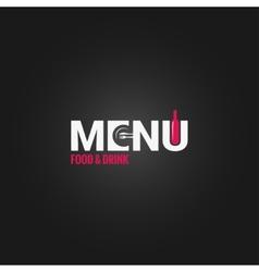 restaurant menu wine design background vector image vector image
