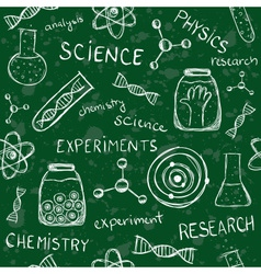 Scientific school board seamless pattern vector image vector image