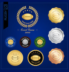 set of american football or rugby badge label vector image