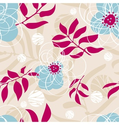 abstract lovely seamless floral pattern vector image vector image