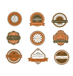 Bio and organic labels vector image vector image