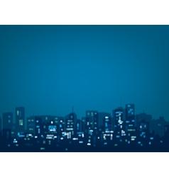 blue night city vector image vector image