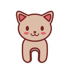 cartoon cat animal image vector image