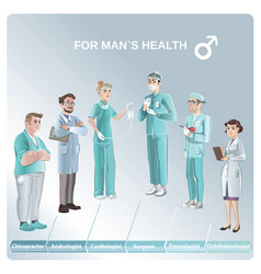 cartoon doctors set vector image vector image