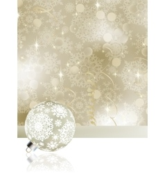 Elegant christmas background with baubles EPS 8 vector image vector image