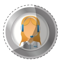 emblem customer support Icon image vector image