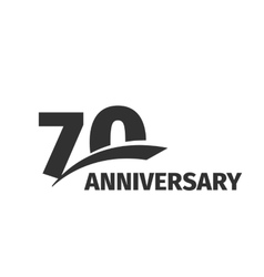 Isolated abstract black 70th anniversary logo on vector