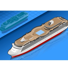 Isometric cruise ship vector