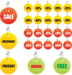 Labels for design sales vector image