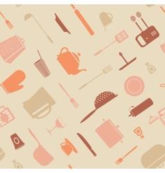Symbol kitchen pattern vector image vector image