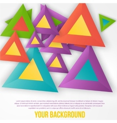 Abstract triangles background object web vector