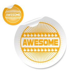 awesome stick vector image