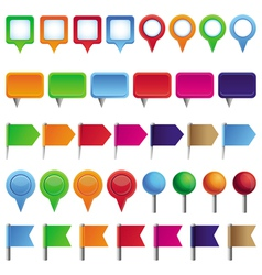 collection with pins and marks vector image