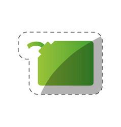 environment gallon gas green design vector image