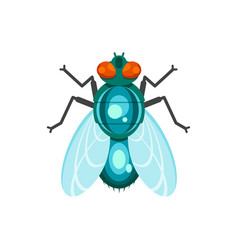 flat style of fly vector image
