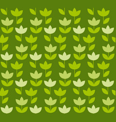 grass green color holland tulip repeatable motif vector image vector image