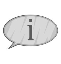 Info answer icon gray monochrome style vector image