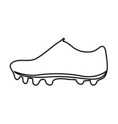 monochrome contour of soccer shoe vector image