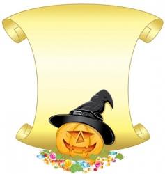pumpkin sign vector image vector image