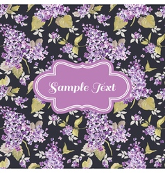 Retro Flower Card - for invitation congratulation vector image vector image