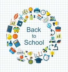 School Colorful Simple Objects and Elements vector image vector image