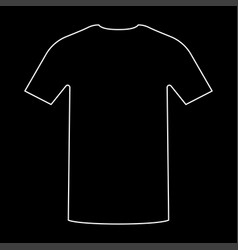 shirt the white path icon vector image