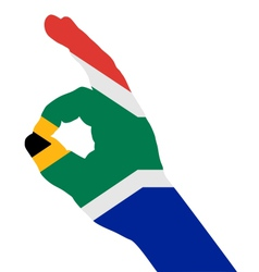 South African finger signal vector image vector image