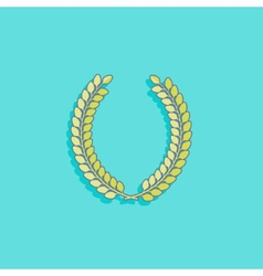 with laurel wreath in flat style design vector image