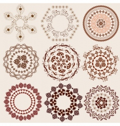 arabesque pattern set vector image