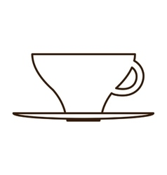 Hot coffee cup icon vector image vector image
