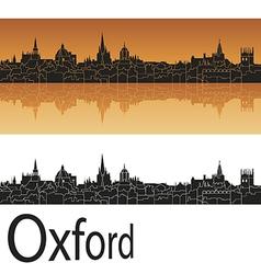 Oxford skyline in orange background vector image